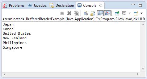 BufferedReader Read File Output