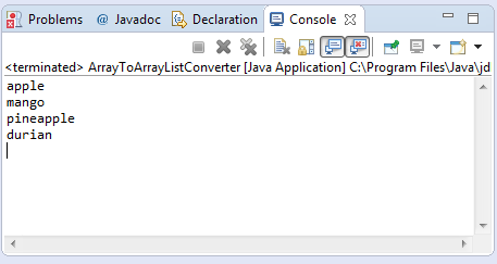 Java array to arraylist conversion example