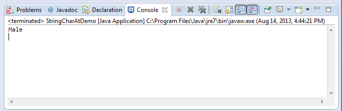 java string charAt method example