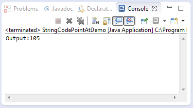 java string codePointAt method example