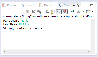 java string contentequals method example