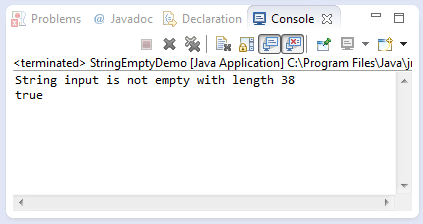 java string isempty method example
