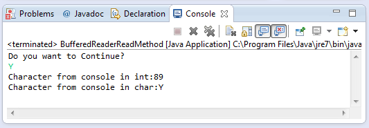 java BufferedReader read method example