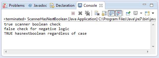 java scanner hasnextboolean method example