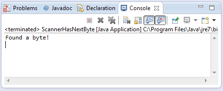 java scanner hasnextbyte method example