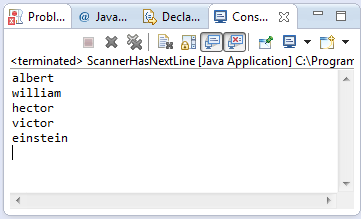 java scanner hasnextline method example