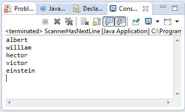java scanner hasnextline method example
