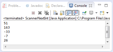 java scanner nextInt method example