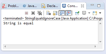 java string equalsignorecase method example