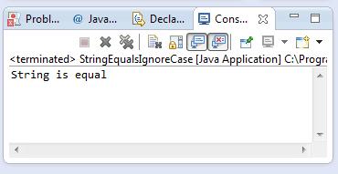 java string equalsignorecase method example