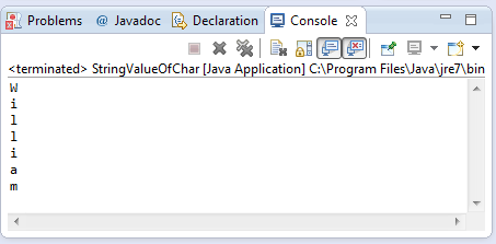 java string valueof char c method example