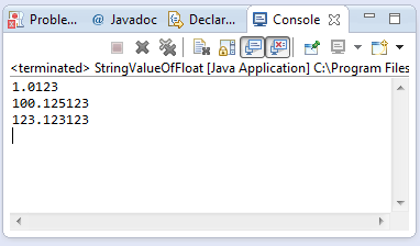 java string indexOf(double) method example