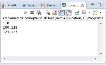 java string indexOf(float) method example