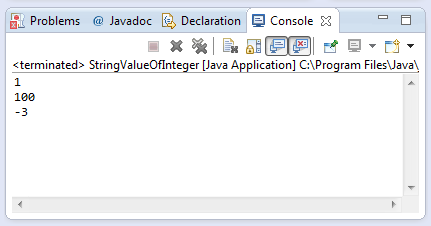 java string indexOf(int) method example