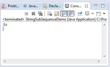 java string subsequence method example