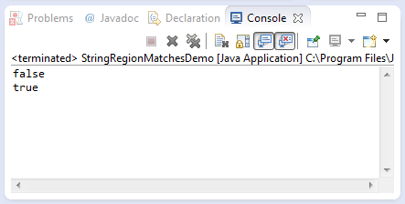java string regionMatches method example
