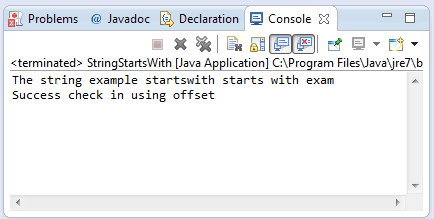 java string startswith method example