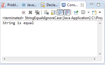 java string equals ignore case method example