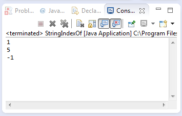 java string indexof method example