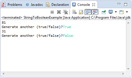 Java example on how to convert String to Boolean