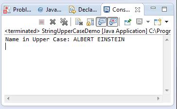 string toUpperCase method example