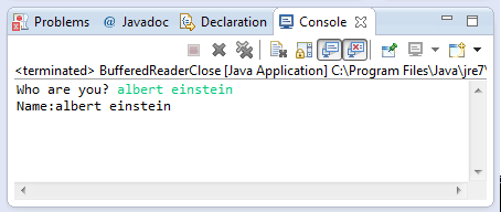 java BufferedReader close() method example