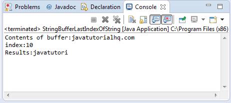 lastIndexOf(String str) method example
