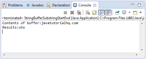 substring(int start,int end) method example