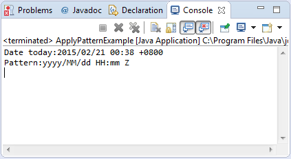 simpledateformat applypatternstring pattern method example