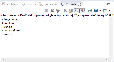 Java Loop Arraylist Example