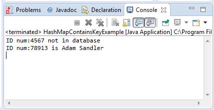HashHamp containsKey() method example