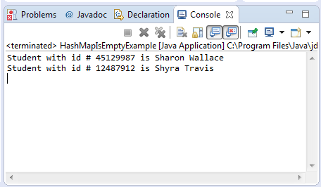 HashHamp isEmpty() method example