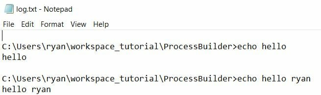 ProcessBuilder Basic Example